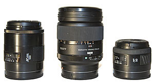 Sony AF 135 F3.5 STF compared to Minolta AF 100 F2 and Minolta 50 F1.4 RS